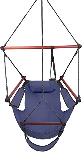 EBLSE Hanging Chair with Detachable Pillow, Well-Equipped S-Shaped Hook High Strength Assembled Hanging Seat