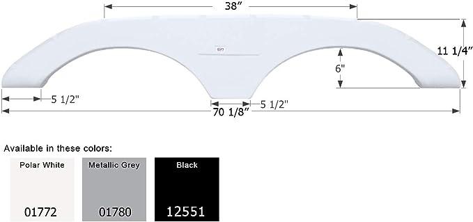 2 Pack Plastic Tandem Fender Skirt for RV Wheel Hub by Alpha Systems