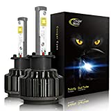 CougarMotor LED Headlight Bulbs All-in-One Conversion Kit - H3-7,200Lm 6000K Cool White CREE - 3 Year Warranty
