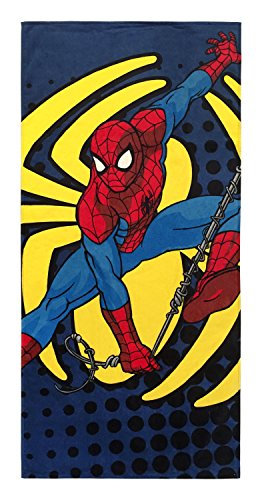 Jay Franco Marvel Spiderman Spidey Go Kids Bath/Pool/Beach Towel - Super Soft & Absorbent Fade Resistant Cotton Towel, Measures 28 inch x 58 inch (Official Marvel Product)