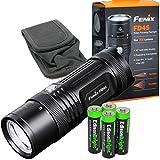 Fenix FD45 900 Lumen LED Flashlight with 4 X EdisonBright AA Alkaline Batteries bundle