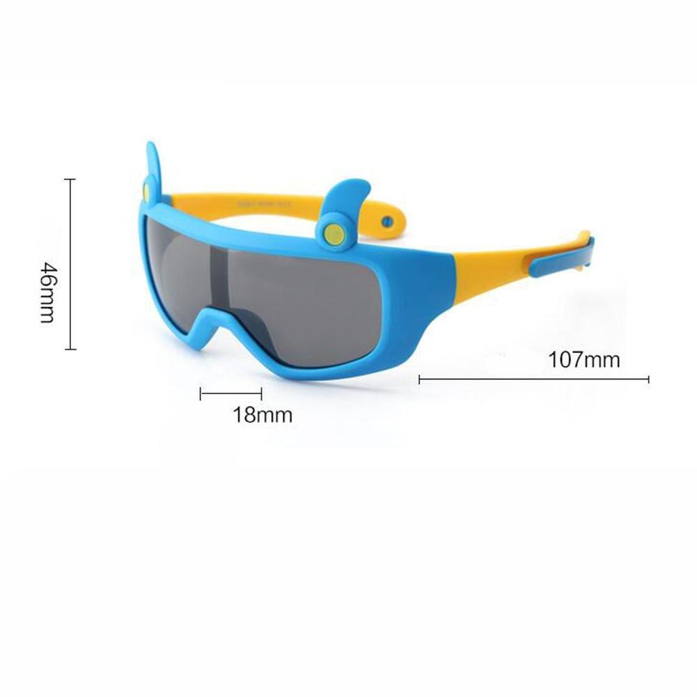 HJXJXJX Kinder kühlen Sonnenbrille Persönlichkeit Sonnenbrille nette Jungen und Mädchen , J