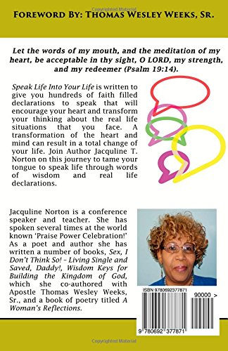 Speak Life Into Your Life Real Life Declarations To Transform Your
