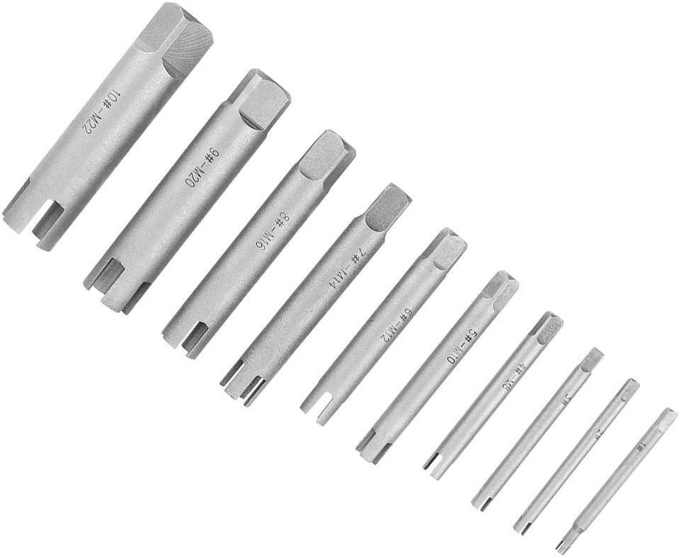 KSTE Extracteur de Taraud, Set Taraud T/ête en Acier bris/é Robinets Remover Stripped taraud Set extracteur C