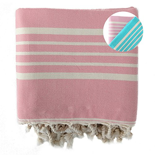 (The Loomia Turkish Towel - Sia Series (100% Cotton, Size Extra Large, Pink))
