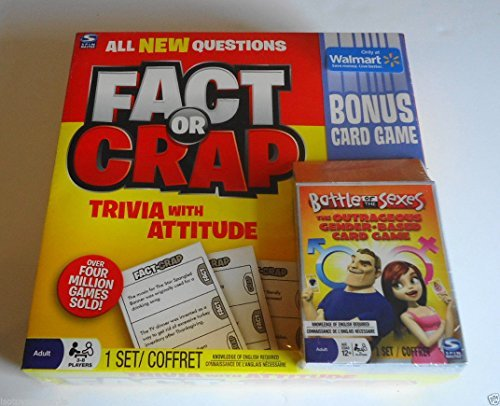 Fact or Crap Trivia with Attitude with Bonus Battle of the Sexes Card Game by Spin Master ()