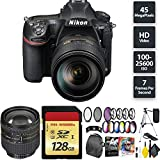 Nikon D850 DSLR Camera + AF-S NIKKOR 24-120mm Lens + 128GB Memory Card + Nikon 24-85mm Lens Zoom Combo International Model