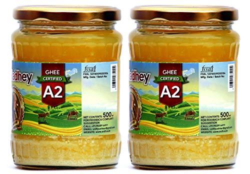 Shree Radhey Certified A2 Gir Cow Ghee - Gluten Free - (Traditionaly Hand Churned) (500 ml X 2) by Shree Radhey (Image #2)