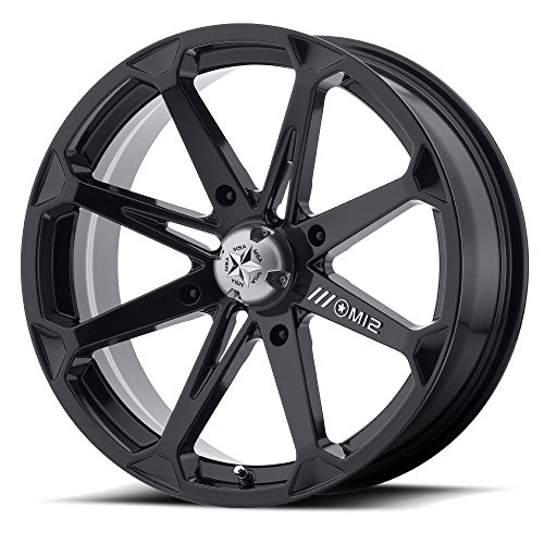 Bundle - 9 Items: MSA Black Diesel 18'' Wheels 33x8 BKT 171 (6ply) Tires [4x156 Bolt Pattern 12mmx1.25 Lug kit] by Powersports Bundle (Image #1)'