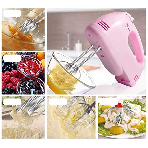 Ultra Power Hand Mixer with 7 speeds, Electric eggbeater, Kitchen Bowl Aid Whisk Mixing (Pink)