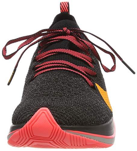 Nike Men's Zoom Fly Flyknit Black/Flash Crimson/Orange Peel Nylon Running Shoes 7.5 M US by Nike (Image #4)