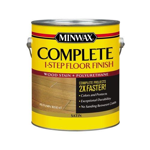 Minwax 672000000 Series 67200 1G Gloss Autumn Wheat Complete 1-Step Floor Finish, 1 - Gloss Flooring Hardwood