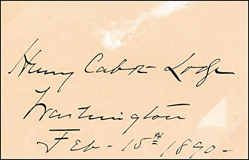 Henry Cabot Lodge Sr. - Signature 02/15/1890