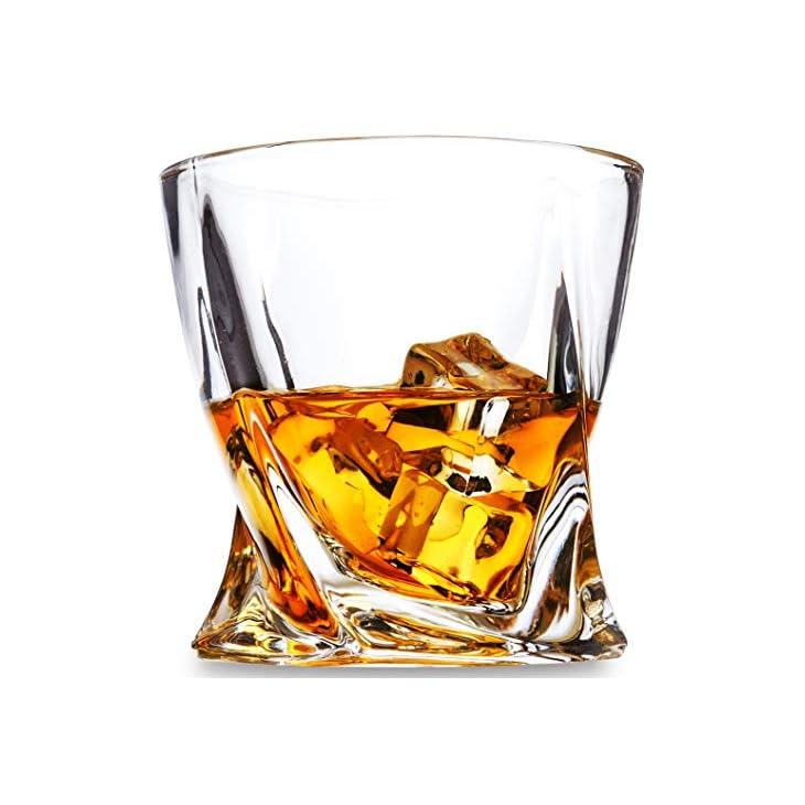 KANARS Ultra-Clarity Lead-Free Crystal Whiskey Glasses Set