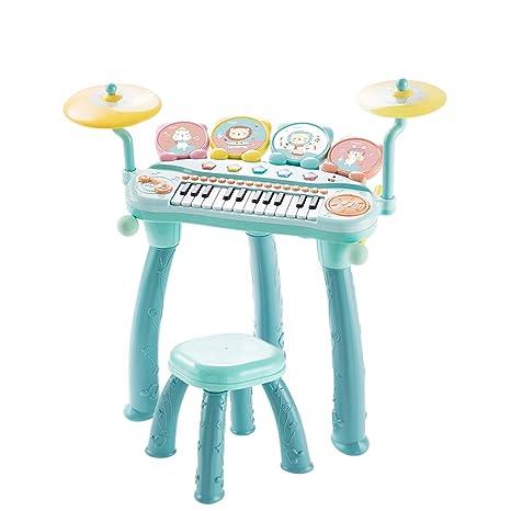 DUWEN Teclado de niños de plástico pequeño piano de juguete principiante instrumento musical