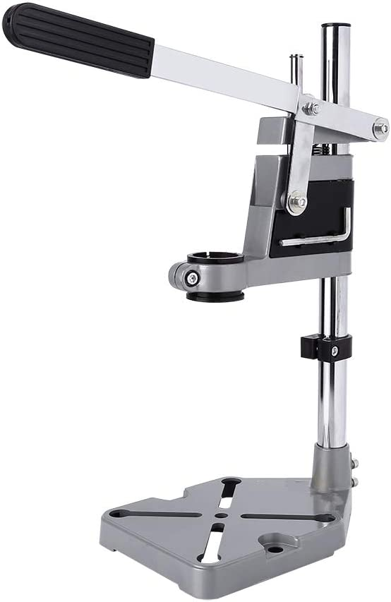 Adjustable Bench Clamp Drill Press Stand, Universal Double Holes Workstation Desktop Workbench Repair Tool Multifunction Rotary Tool Support Stand
