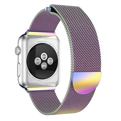 CapsA Milanese Stainless Steel Magnetic Closure Watch Band Replacement Strap Compatible Apple Watch Series 3 42MM by CapsA-Gifts & Decoration (Image #5)