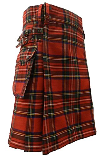 UTKilts Men's Tartan Utility Kilt - Several Tartans Available (50, Royal ()