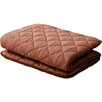 EMOOR, Polyester, Japanese Futon Mattress 'CLEO', Full Size, Brown, Made in Japan