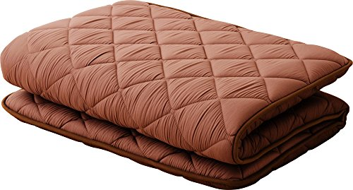 Polyester Futon Mattress - EMOOR, Polyester, Japanese Futon Mattress Cleo(39 x 83 x 2.5 in.), Twin-Long Size, Brown, Made in Japan