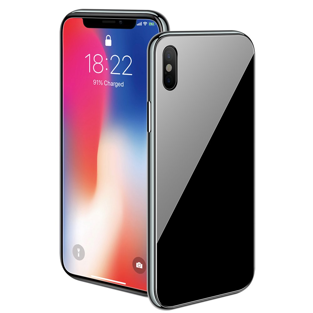pretty nice 3fdfc 32b1d iPhone X/XS Max/XS/XR Magnetic Case with Metal Frame Glass Back Case for  iPhone 10 Aluminum Alloy Tempered Glass with Built-in Magnet Flip Cover for  ...