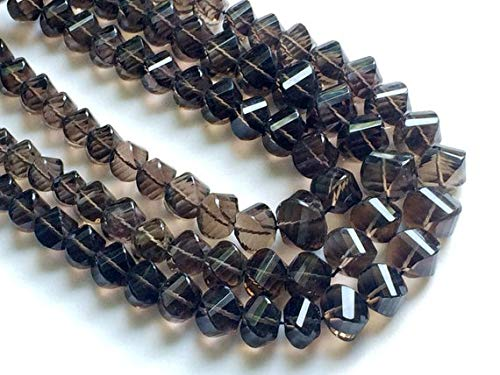 Twisted Nugget - GemAbyss Beads Gemstone 1 Strand Natural Smoky Quartz Twisted Nuggets, Smoky Quartz Necklace, 8mm - 14mm, 8 Inch Code-MVG-18808