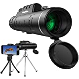 HoFire Monocular Telescopes, 12x50 Dual Focus Waterproof Spotting Scopes, Low Night Vision with Phone Clip and Tripod for Cell Phone-for Bird Watching, Hunting, Camping, Hiking, Outdoor, Surveillance