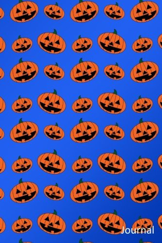 Journal: Blue pumpkin jack o lantern notebook -