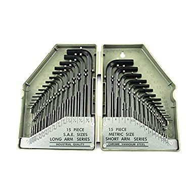 30 Piece Allen Wrench Set-SAE/MM (GREY)
