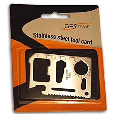 Credit Card Size Multitool Made of Strong Stainless Steel by Tehumiin OÃœ