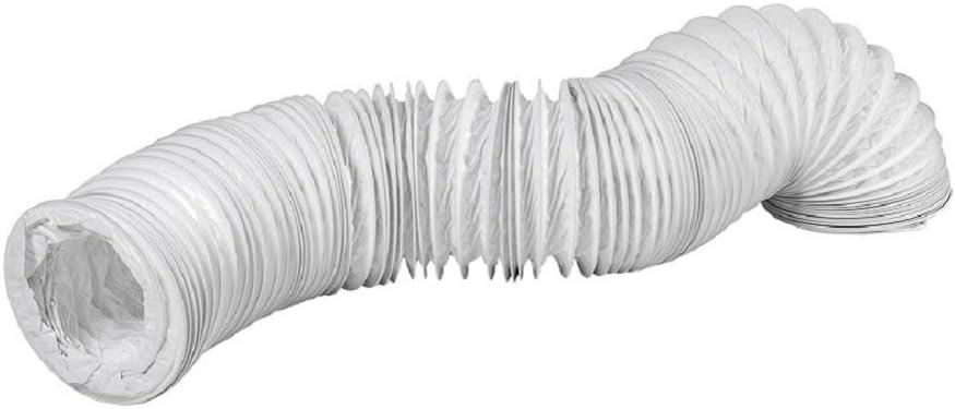 Tubo de salida de aire de PVC de 80 mm de diámetro y 6 m de largo, para instalaciones de aire acondicionado, secadoras y secadoras: Amazon.es: Bricolaje y herramientas