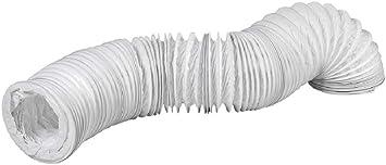Tubo de salida de aire de PVC de 160 mm de diámetro, 6 m de largo, para aire acondicionado, secadora, campana extractora: Amazon.es: Bricolaje y herramientas