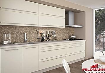 Küchenzeile 16896 Küchenblock 240cm Grau / Vanille Matt