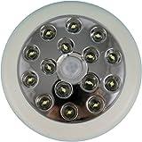 ADX 15LEDPIR-WH LED 140-Degree 12 Meter Security PIR Infrared Motion Sensor Detector Wall Light Outdoor, White, Single