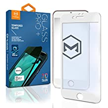 MCDD® iPhone 7 & 7 Plus Screen Protector, 3D W/ Anti-Blue Pro-Glass+ Tempered Glass Screen Protector [Full Cover Screen Protector] for iPhone 7+ – [3D Curved Edges For Seamless Fit] (iPhone 7 White 3D)