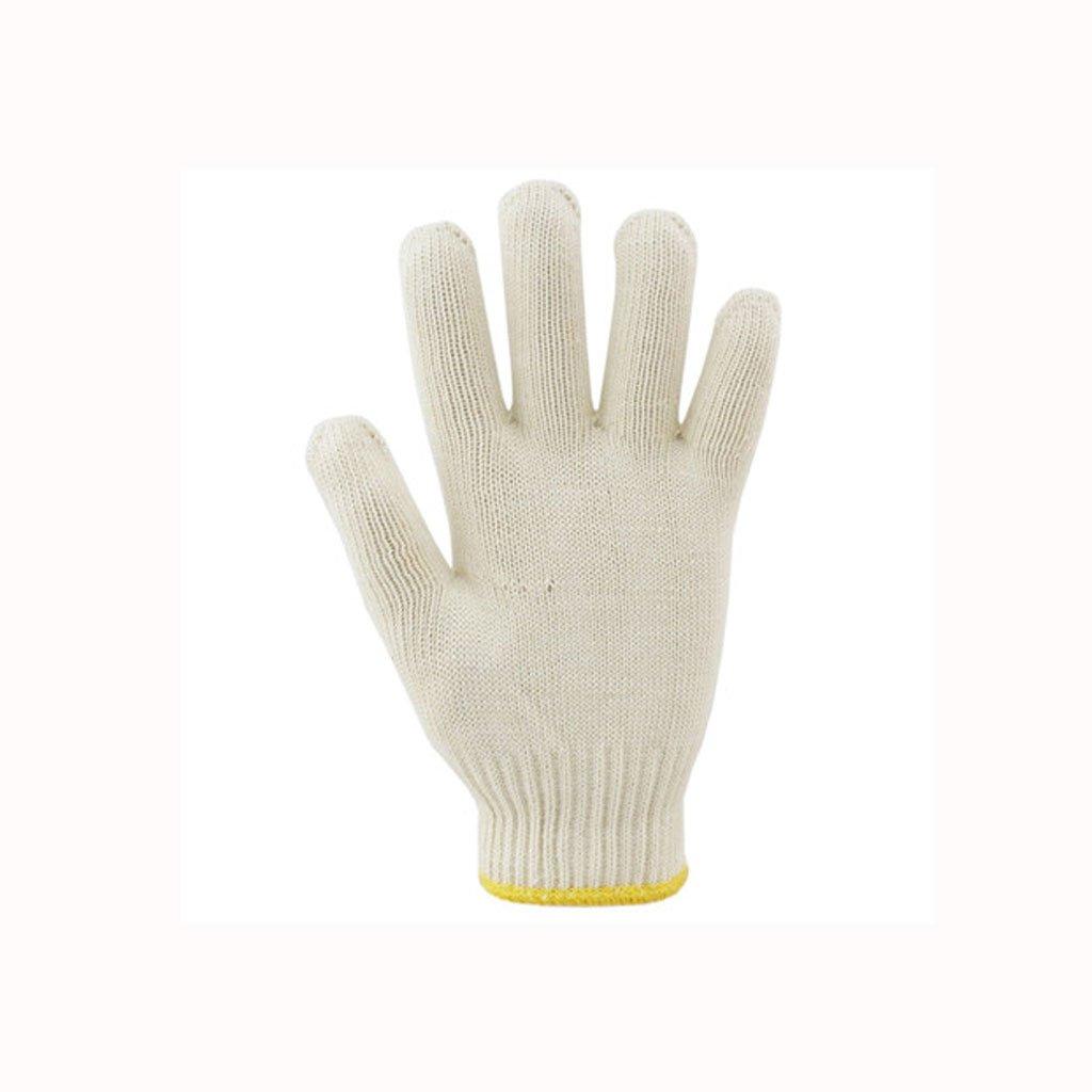 && Weiße Handschuhe, Baumwolle Gaze Handschuhe, Arbeitsschutz Arbeit Verschlüsselung Verschleißfeste Fabrikwerkstatt Arbeitshandschuhe