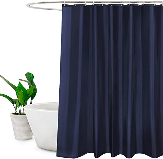 Bright Car Waterproof Bathroom Polyester Shower Curtain Liner Water Resistant
