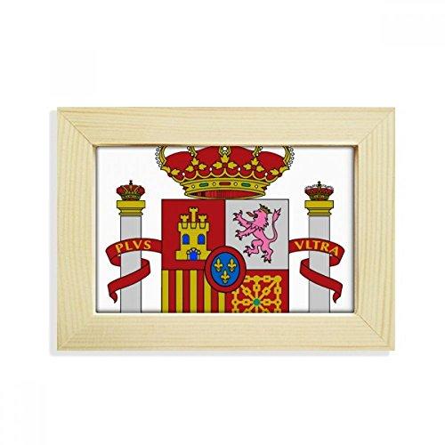 DIYthinker Spain Europe National Emblem Desktop Wooden Photo Frame Picture Art Painting 5x7 inch by DIYthinker
