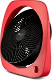BOVADO USA High TurboPowered Table Top Fan (10') -Adjustable Tilt Angle - Quiet Yet Powerful Motor- Portable and Fashionable Desk Fan for Home or Office - by Comfort Zone (Red)