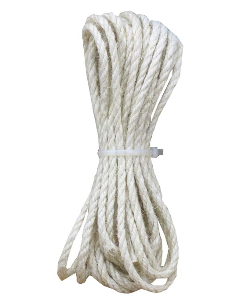 Colored Jute twine Jute String for Making Craft Project, 5mm - 32 ft, White