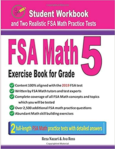 FSA Math Exercise Book for Grade 5: Student Workbook and Two