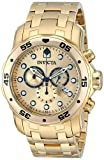Invicta Men's 'Pro Diver' Quartz Stainless Steel and Gold Plated Diving Watch(Model: 0074)