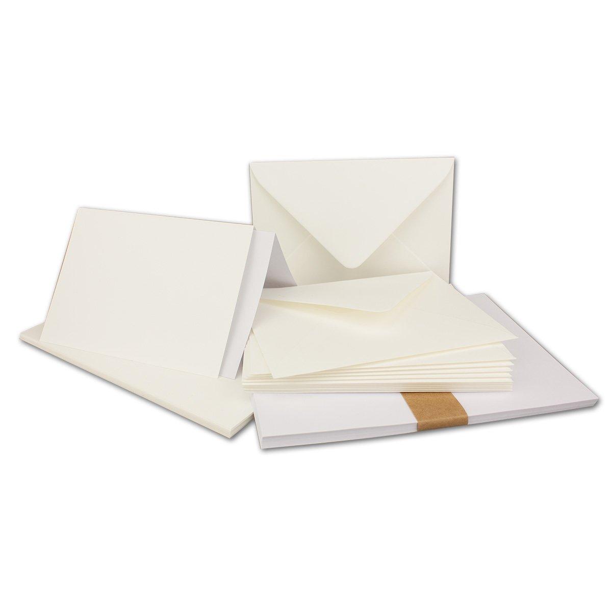 150 Sets - Faltkarten Hellgrau - DIN DIN DIN A5  Umschläge  Einlegeblätter DIN C5 - PREMIUM QUALITÄT - sehr formstabil - Qualitätsmarke  NEUSER FarbenFroh B07C2XC2K6 Kartenkartons Kunde zuerst f7751e