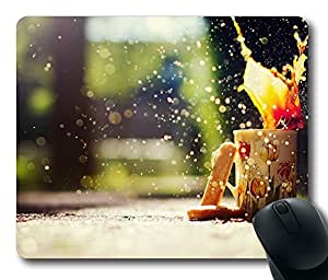Design Coffee Bokeh 2 Mouse Pad Desktop Laptop Mousepads Comfortable Office Mouse Pad Mat Cute Gaming Mouse Pad
