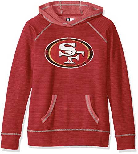 NFL Long sleeve raglan pullover hoodie the All Out Action Program, San Francisco 49ers, X-Large (Drop Ship Programs)