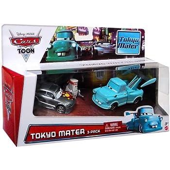 Amazon.com: Disney Cars Multi-Packs Streets of Japan 3-Pack ...