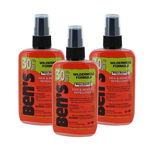 (Ben's 30% Deet Insect Repellent Spray, 3.4 oz (Pack of 3))