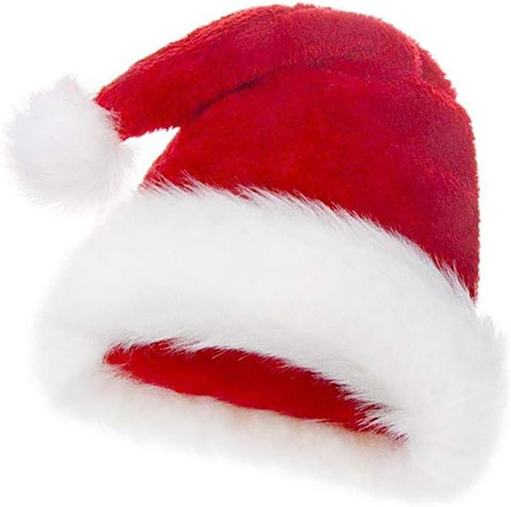 Luxury Deluxe Fluffy Christmas Santa Claus Fancy Dress Hat