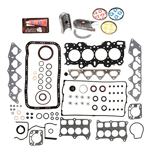 Evergreen Engine Rering Kit FSBRR4008EVE\2\0\0 Fits 94-01 Acura Integra B18C1 B18C5 Full Gasket Set, Standard Size Main Rod Bearings, 0.50mm / 0.020