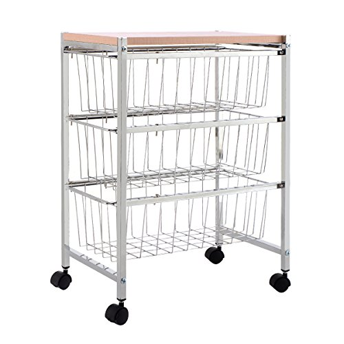 Giantex Rolling Baskets Storage Trolley